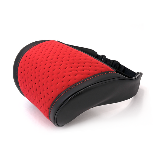 Red suede accessories inteiror Car Seat Head Neck Rest Cushion