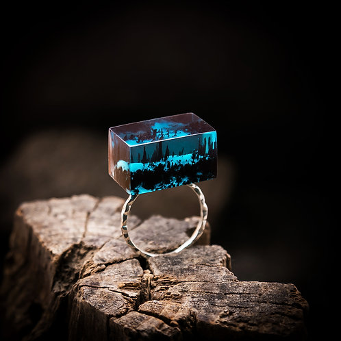 Wood Resin Ring Soul of the Forest