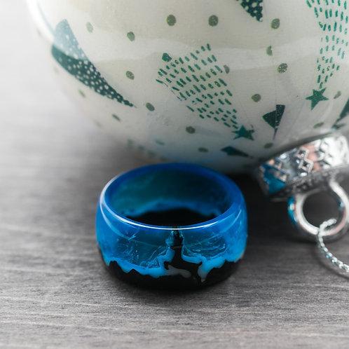 Reindeer Wood resin Ring