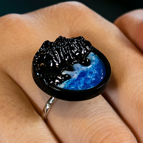 Wood Resin Ring West Coast