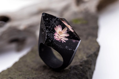 "Wood Ring ""Bloom"""
