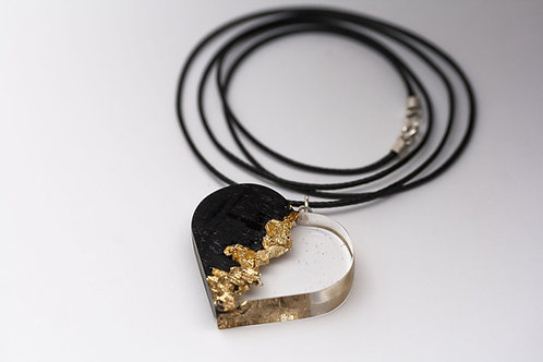 "Pendant ""Golden Heart"""