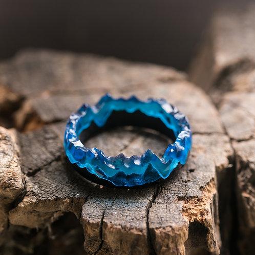 Arctic Mountains Wood resin Ring