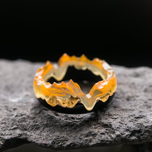 Wood resin Ring Fire