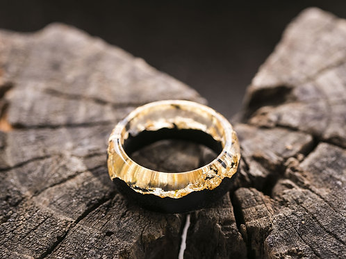 Wood resin ring Gold