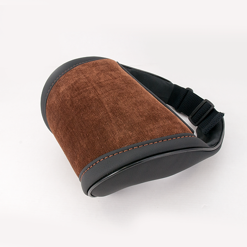 Brown suede accessories inteiror Car Seat Head Neck Rest Cushion
