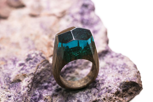 Wood Ring Green Wood (IN STOCK)