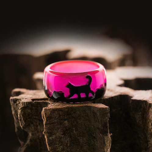 Wood resin Ring CAT