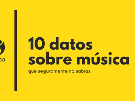 10 datos curiosos sobre música que no sabías.