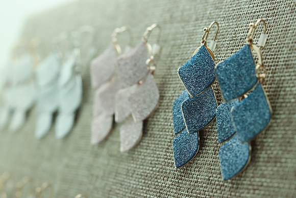 Flutter Sparkle Drop Earrings