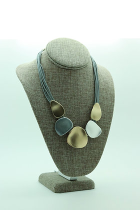 Brushed Two Tone Matte Finished Necklace