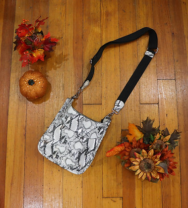 Mini Grey Python Guitar Strap Bag