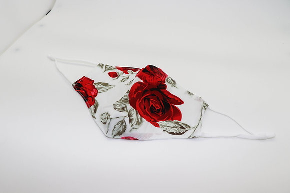 Red Rose Face Mask