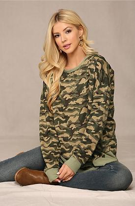 Green Camo Sweatshirt