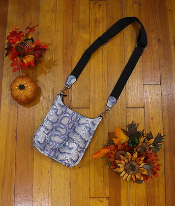 Mini Purple Python Guitar Strap Bag