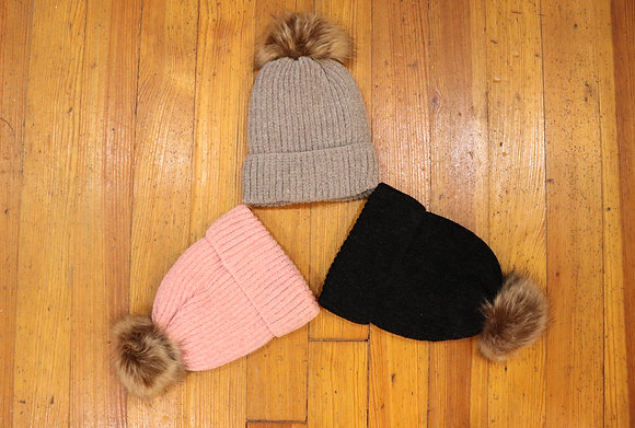 Chenille Hat with Sherpa Lining