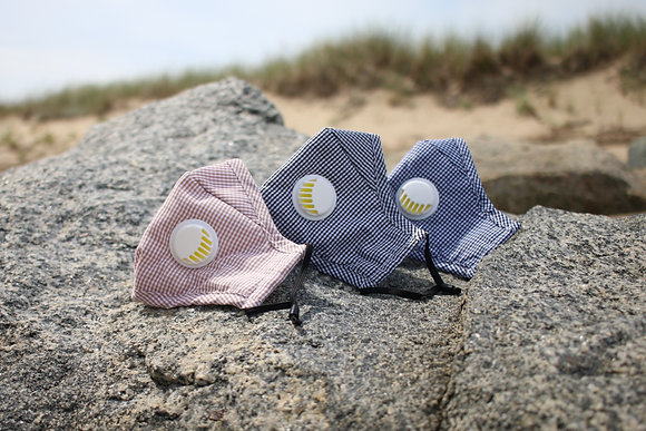 Gingham Face Mask with Vent