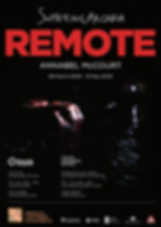Remote Poster - Annabel McCourt exhibition