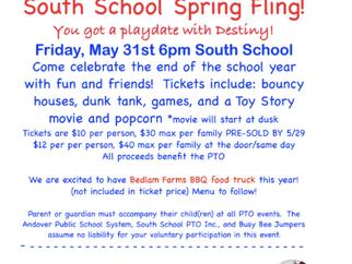 SPRING FLING: FRIDAY, MAY 31st