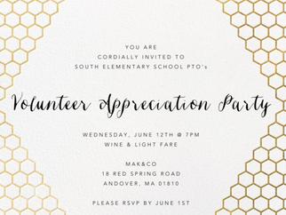VOLUNTEER APPRECIATION PARTY: 6/12