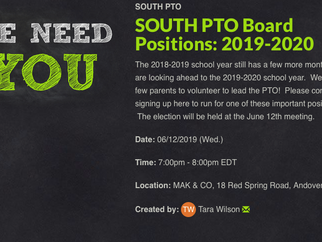 PTO BOARD ELECTION SIGN-UP