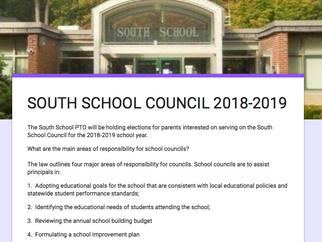 SOUTH SCHOOL COUNCIL