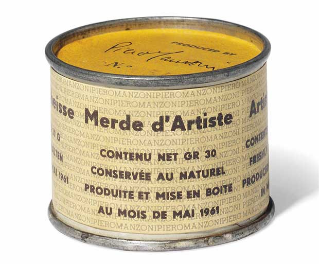 Piero Manzoni can of artist shit