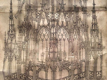 MFAH-Rouen-Cathedral-Steeple-Drawing-Det