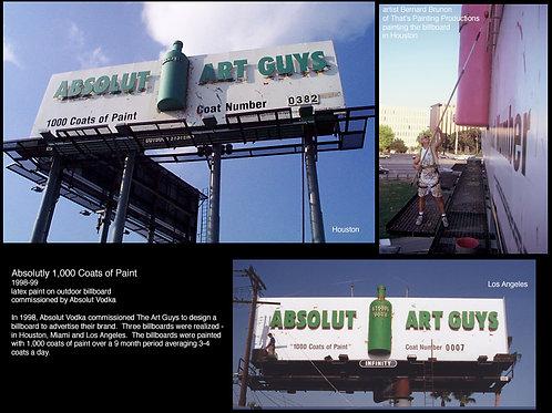 Absolut Vodka 1,000 Coats of Paint Billboard
