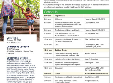 Oct 27 Explore Nature and Health
