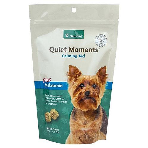 NaturVet Quiet Moments Calming Aid Plus Melatonin Dog Chews