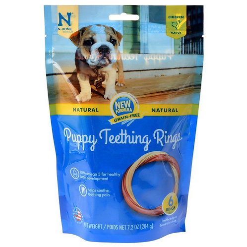 N-Bone Grain Free Puppy Teething Rings - Chicken Flavor