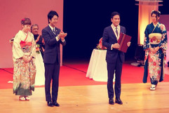 Receiving the Fukuoka Grand Prize