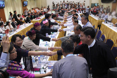 Peace talks in Yangon