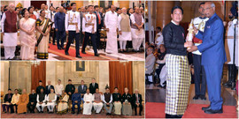Receiving the Padma Shri from the President of India