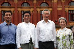 Singapore Prime Minister Lee Hsein Loong and Mdm Ho Ching