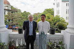 UK Foreign Secretary Boris Johnson