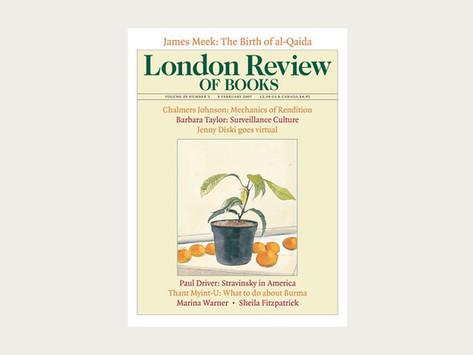 London Book Review သို့ ပေးပို့ခဲ့သည့် စာအုပ်သစ်မှ အကြောင်းအရာ အချို့