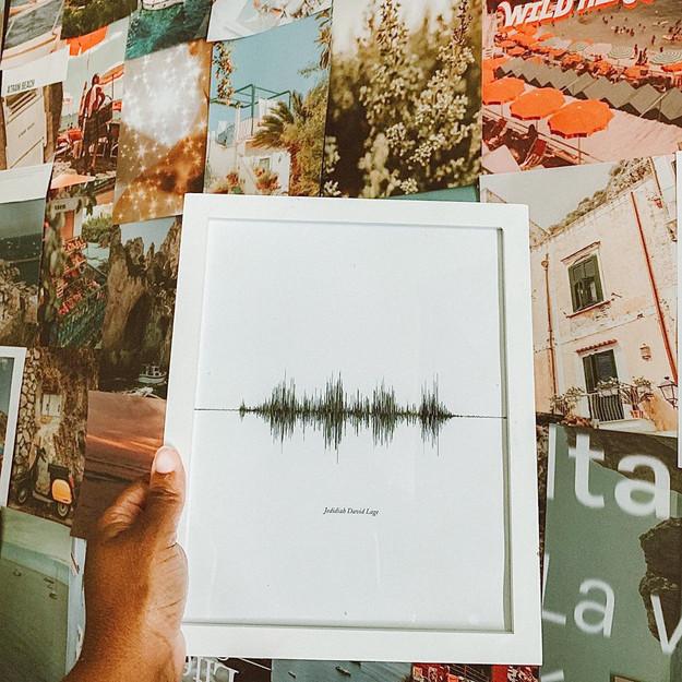 Lovewaves Sound Wave Art Print Photo 1 c