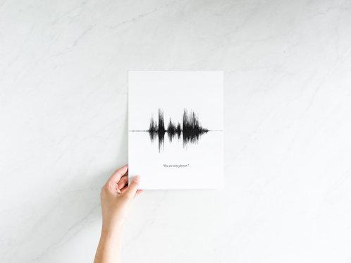 8x10 Custom Sound Wave Print