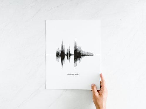 11x14 Custom Sound Wave Print