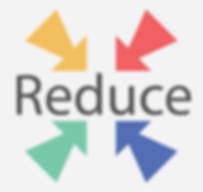 four arrows pointing towards the word reduce