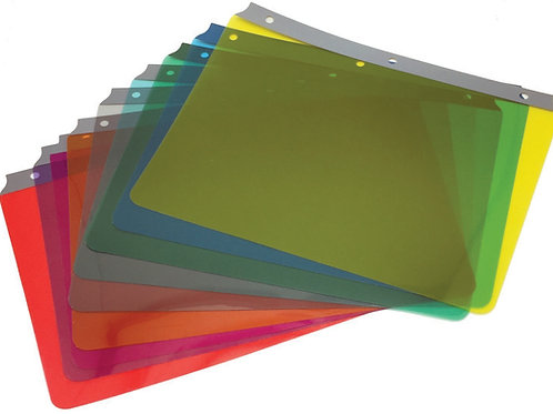 Ashley full page overlays: Multi-colour – Pack of 9