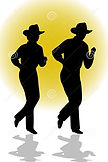 country-line-dancing-couple-ai-stock-pho