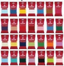 250g packs of coloured Renshaw sugarpaste