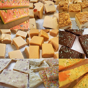 Selection of our handmade fudge #handmad