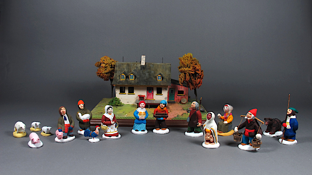 Maquette et figurines de type santon