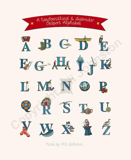Newfoundland & Labrador Outport Alphabet