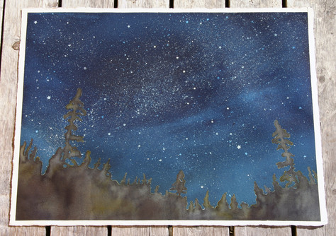 Big Dipper Watches Over the Forest