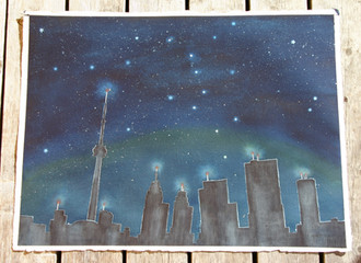 Big Dipper Watches Over the City